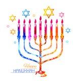 Happy Hanukkah, Jewish holiday background Stock Photos