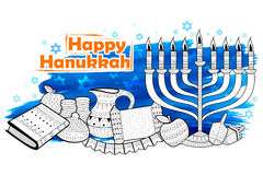 Happy Hanukkah, Jewish holiday background Royalty Free Stock Images