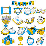 Happy Hanukkah, Jewish holiday background Royalty Free Stock Photos