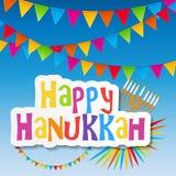 Happy Hanukkah, Jewish Holiday Background. Vector Stock Photo