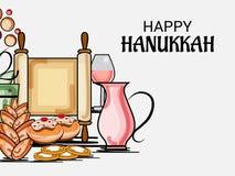 Happy Hanukkah Jewish holiday. Vector Illustration of a Background for Happy Hanukkah Jewish holiday Royalty Free Stock Images