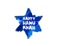 Happy Hanukkah.  Lettering. Gift card. Royalty Free Stock Photo