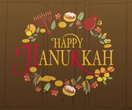 Happy Hanukkah logotype, badge and icon typography Royalty Free Stock Image