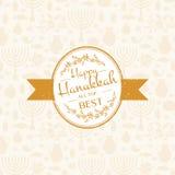 Happy Hanukkah logotype, badge and icon typography. Royalty Free Stock Photo