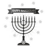Happy Hanukkah Menorah royalty free illustration