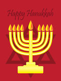 Happy Hanukkah with menorah Stock Photos