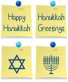 Happy Hanukkah Post It Set royalty free illustration