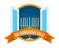Happy Hanukkah Sale Emblem Design Stock Photos