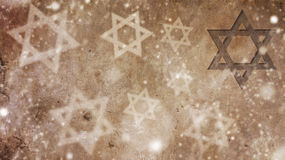 Happy Hanukkah. Snow and Star of David stock image
