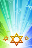 Happy hanukkah with star of david Stock Photo