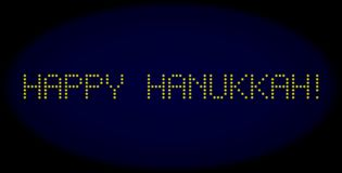 HAPPY HANUKKAH! Led Style Message with Glowing Dots vector illustration