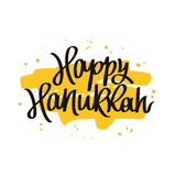 Happy Hanukkah. The trend calligraphy Royalty Free Stock Photo