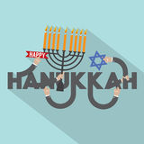 Happy Hanukkah Typography Design. Stock Images