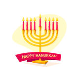 Happy Hanukkah, vector illustration Stock Images