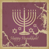 Happy Hanukkah vintage Stock Photo