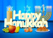 Happy Hanukkah wallpaper background Stock Photography