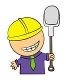 Happy hard worker Stock Image