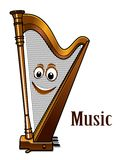 Happy harp in a music concept Stock Images