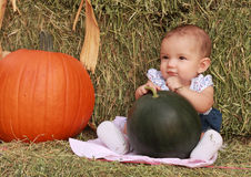 Happy Harvest Baby Girl Royalty Free Stock Image