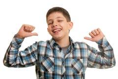 Happy haughty boy Stock Photography