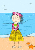 Happy Hawaii girl Stock Photography