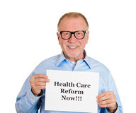 Happy with health care reform Stock Photography