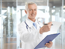 Happy healthcare practioner Stock Images