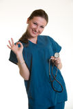 Happy healthcare worker Royalty Free Stock Images