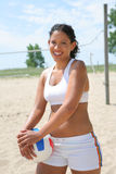 Happy Healthy Beach Volleyball Player Stock Photography