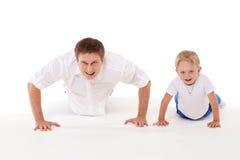 Happy healthy family. Royalty Free Stock Photos