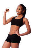 Happy healthy fit black asian woman Royalty Free Stock Photography