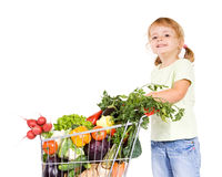 Happy healthy little girl stock images