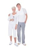 Happy healthy senior couple Royalty Free Stock Photo