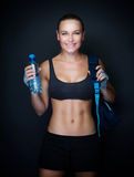 Happy healthy sportive woman Royalty Free Stock Images