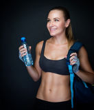 Happy healthy sportive woman Stock Images