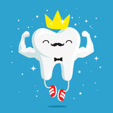 Happy healthy and strong tooth with gold crown Stock Photography