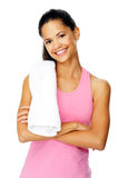Happy healthy woman Royalty Free Stock Image