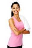 Happy healthy woman Stock Photos