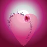 happy heart Σας ευχαριστώ για την ημέρα Στοκ Εικόνες