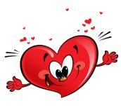 Happy heart. A happy heart character giving a hug Royalty Free Stock Image