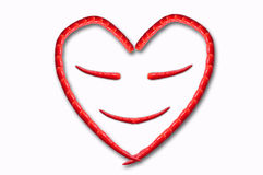 Happy heart by chili Royalty Free Stock Photos
