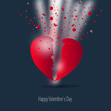 Happy heart, valentine`s card background Stock Photos