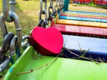 Happy heart Valentine's day in play grounds Royalty Free Stock Photography