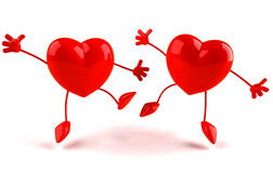 Happy hearts Stock Images