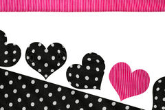 Happy Hearts Polka Dots Stock Image