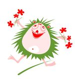 Happy hedgehog Stock Image