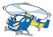 Happy Helicopter Stock Image