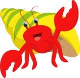 Happy hermit crab cartoon Royalty Free Stock Photo