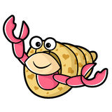 Happy Hermit Crab Characters Royalty Free Stock Photo