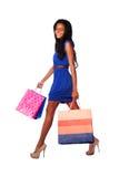 Happy high heels fashion shopping Royalty Free Stock Image